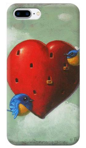 © Paolo Rui; smartphone cover, bird, heart, St.Valentine's Day, Vivid Niltava, home