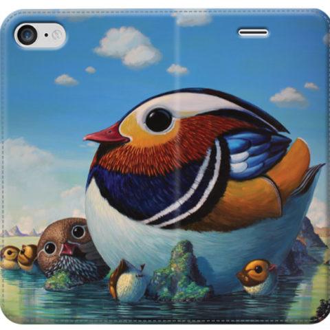 © Paolo Rui; smartphone cover, Mandarine duck, birds, picnic