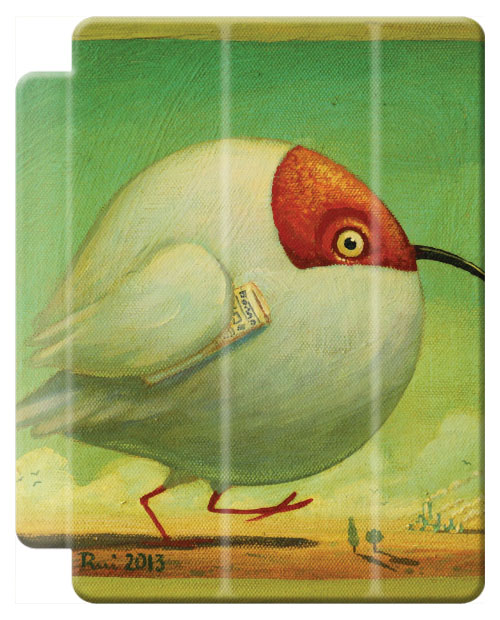 © Paolo Rui; tablet cover, birds, Crested Ibis