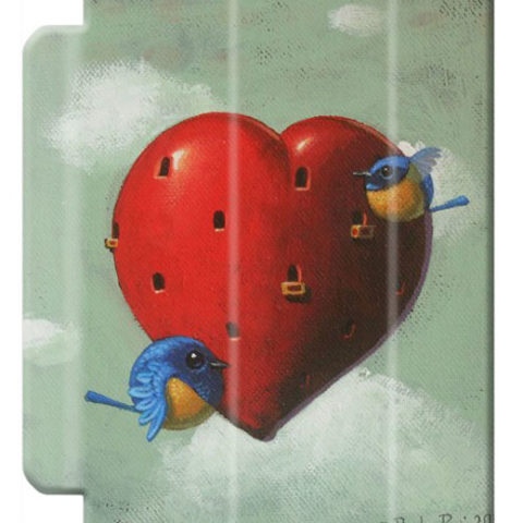 © Paolo Rui; tablet cover, bird, heart, St.Valentine's Day, Vivid Niltava, home