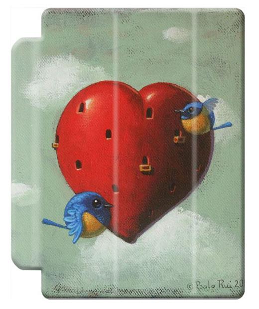 © Paolo Rui; tablet cover, bird, heart, St.Valentine's Day, Vivid Niltava, home